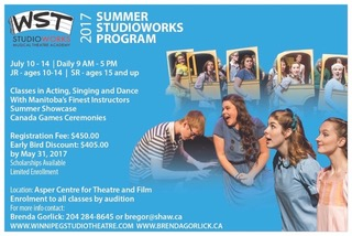 Summer StudioWorks Auditions