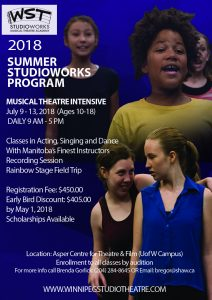 Summer StudioWorks Registration Open!!
